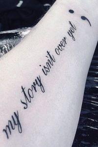 semicolon tattoo speak life